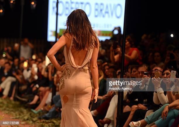 Worldwide known top model Irina Shayk walks on the podium at Dosso Dossi Fashion Show at Expo Center in Antalya, Turkey on June 6, 2014. Irina...