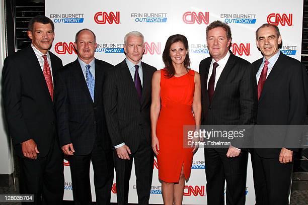 Worldwide managing editor Mark Whitaker, CNN Worldwide president Jim Walton, CNN' 360 anchor Anderson Cooper, CNN 'Outfront' host Erin Burnett, CNN...