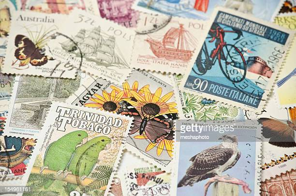 worldwide postage stamps - postmark stock pictures, royalty-free photos & images
