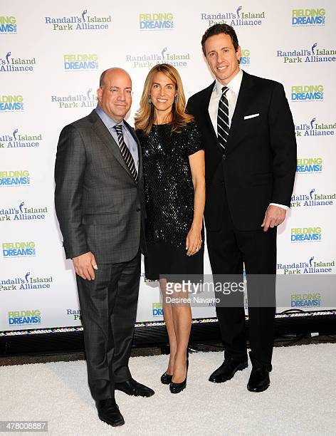CNN Worldwide President Jeff Zucker with wife Caryn Zucker and CNN New Day anchor Chris Cuomo attend the 2014 Fielding Dreams gala at American Museum...