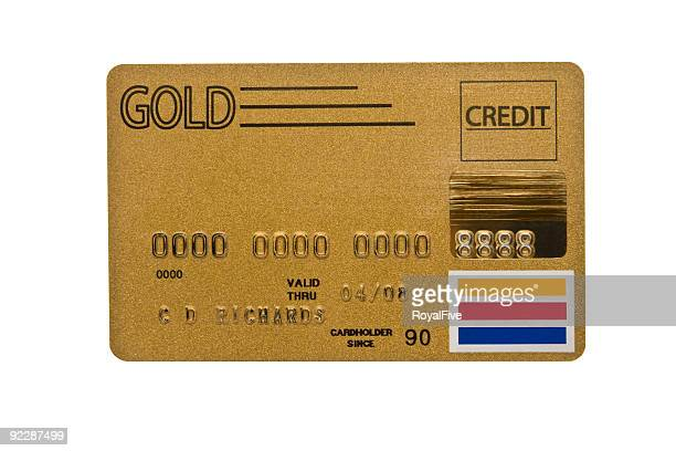 Worn Gold Credit Card