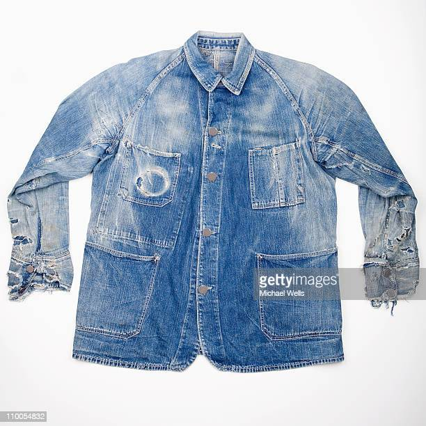 Worn out denim jacket