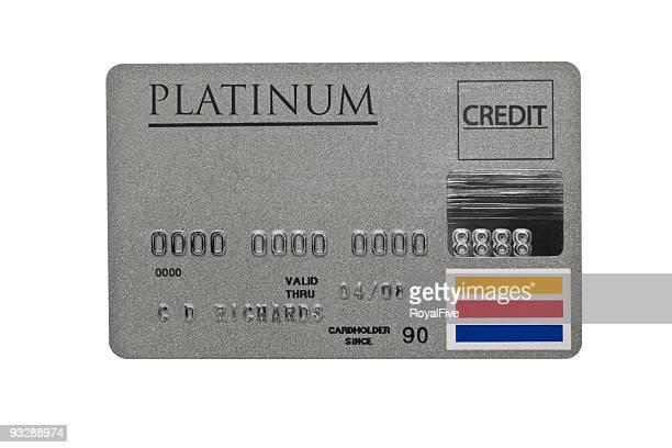 Eingetragenen Platinum-Kreditkarte