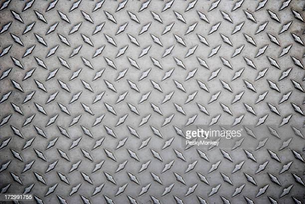 Worn Steel Diamond Tread Full Frame Background