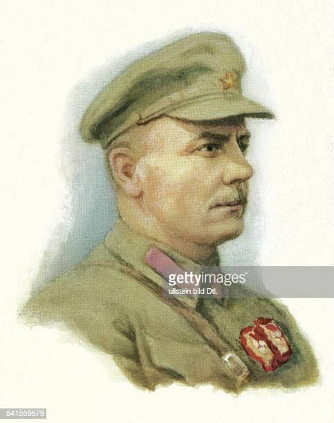 Woroschilow Kliment Jefremowitsch*04021881Politiker Offizier UdSSR19251940 Volkskommissar für Verteidigung195360 Staatsoberhaupt Portrait von S...