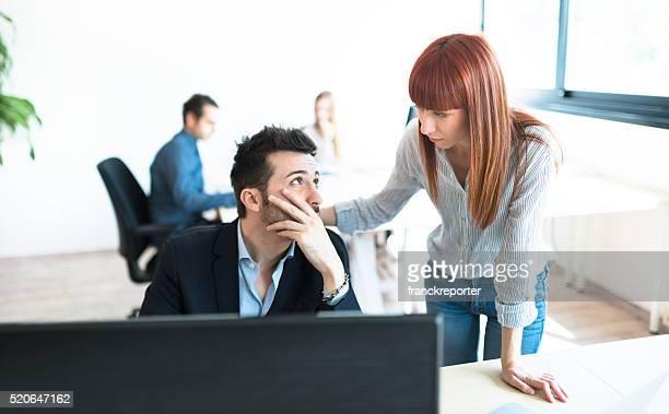 worried businessman at work