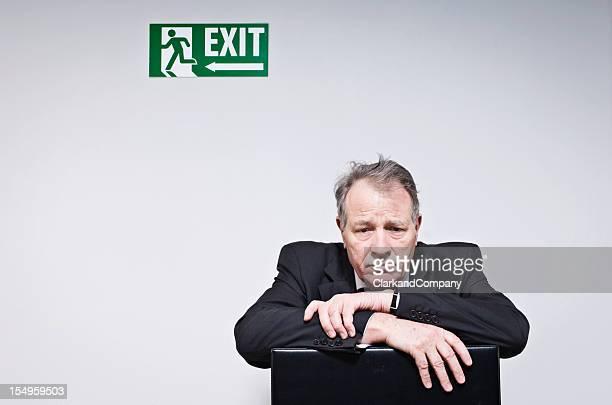 Worried Businessman Thinking About Redundancy