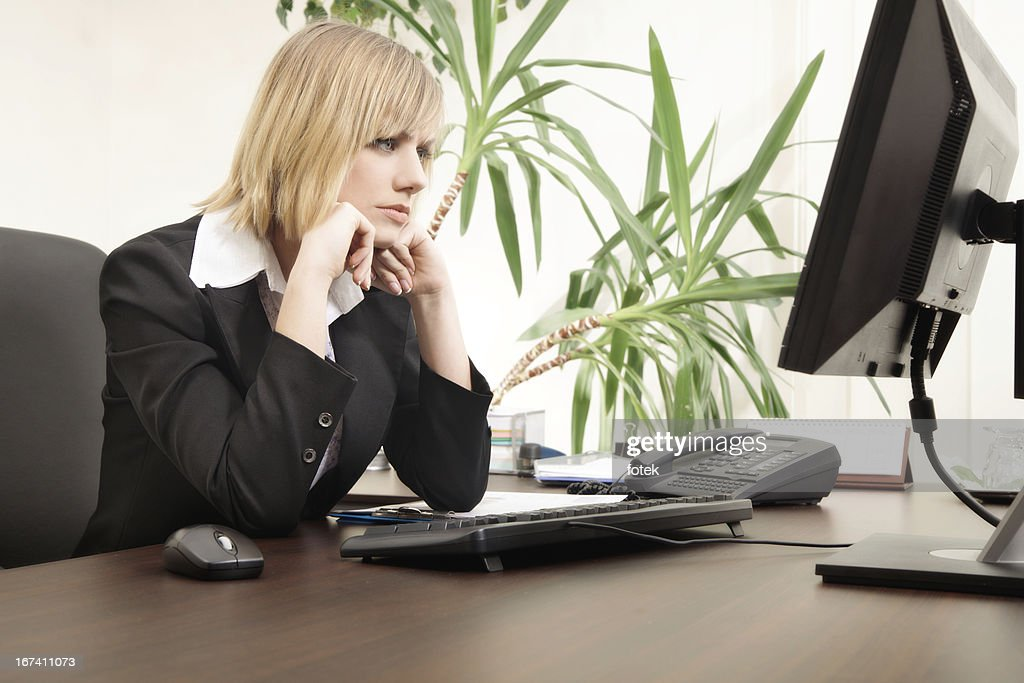 Worried businesswoman : Stock Photo