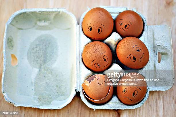 worried looking fresh eggs - gregoria gregoriou crowe fine art and creative photography. fotografías e imágenes de stock