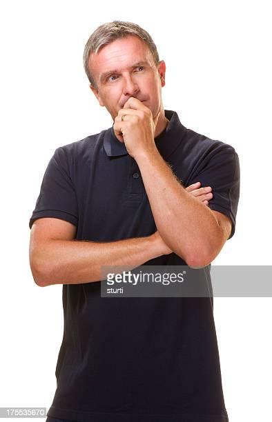 worried man thinking