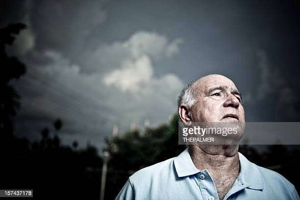 worried old man