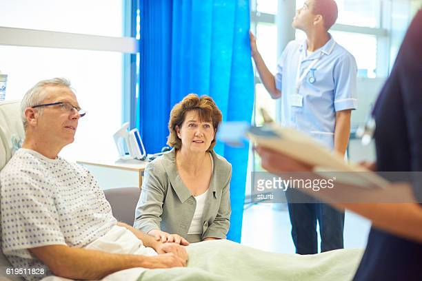 worried patient and wife