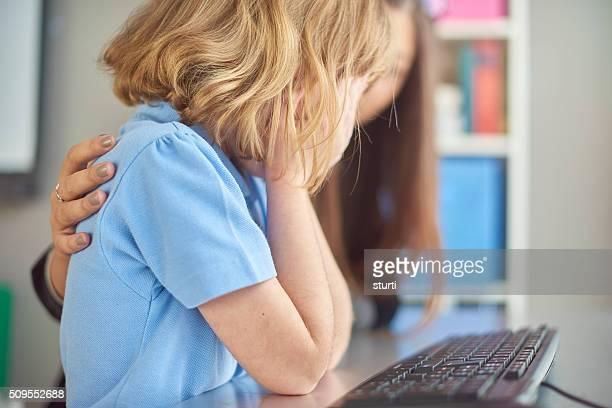 worried schoolchild