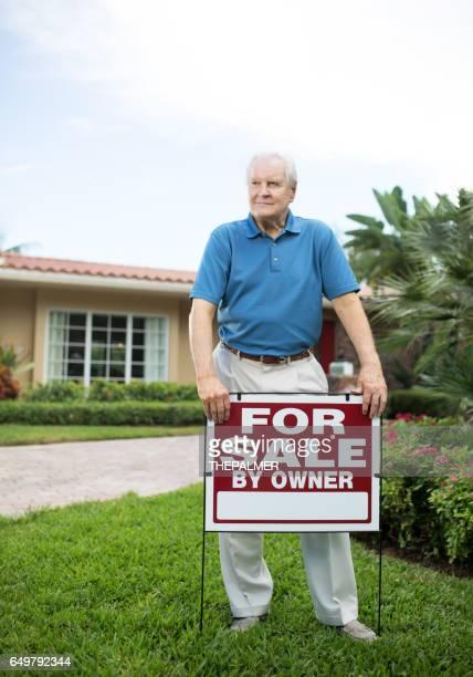 Worried senior selling house