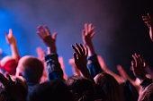 Worship hands raised