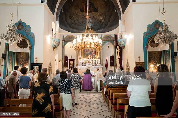 Worship in Armenische Kirche in Damaskus, Syrien