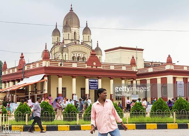 Worshippers at Dakshineswar Kali Temple, Kolkata, India