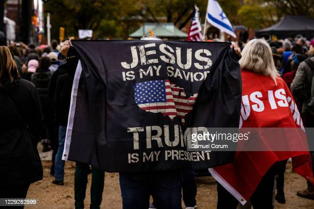 Worshippers attend a concert by evangelical musician Sean Feucht on the National Mall on October 25, 2020 in Washington, DC. Feucht was granted a...