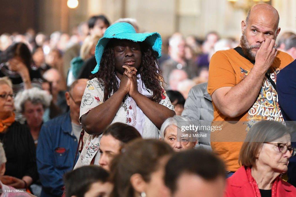 FRA: Notre Dame Easter Mass Is Held At St Eustache