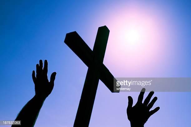 worshipping at the cross - gud bildbanksfoton och bilder