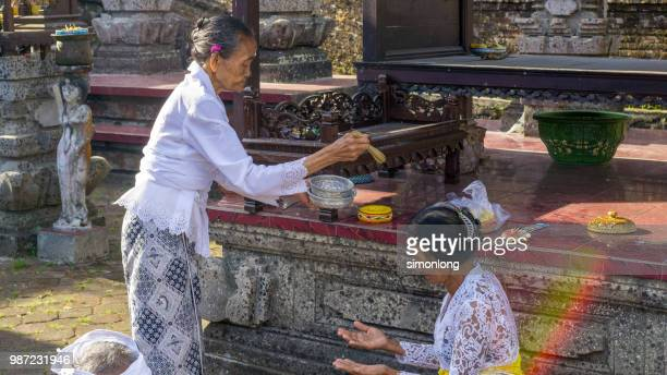 Worshipping in The Temple. Bali,Indonesia.
