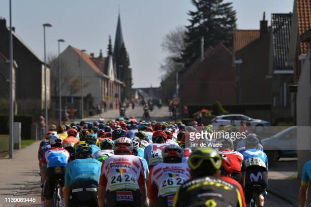 Wortegem City / Church / Peloton / Landscape / during the 62nd E3 Harelbeke 2019 a 203,9km race from Harelbeke to Harelbeke / #E3BinckBankClassic /...