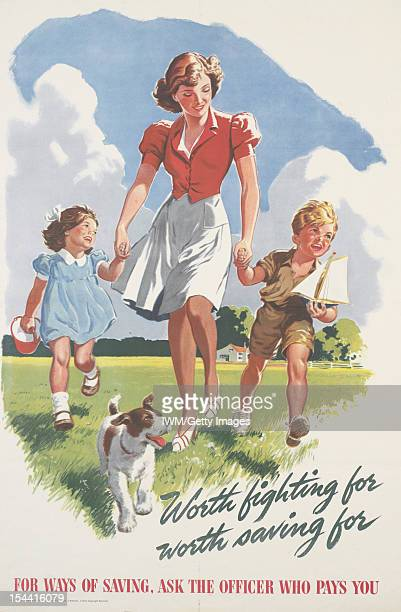 Worth Fighting For Worth Saving For A fulllength depiction of a woman holding on to the hand of a boy and a girl They walk across a field with a dog...