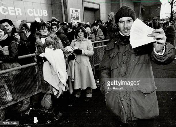 Worth his wait Alex Toth 17 waiting in line from 5 am Friday got gold tickets but his bonechilling wait made him long for a hot bath and some sleep...