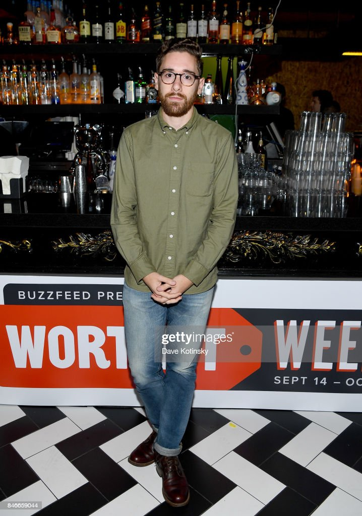 'Worth It' cast member Andrew Biachi attends the 'Worth It' party presented by Buzzfeed at 1 Oak on September 13, 2017 in New York City.