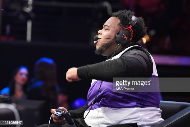 worthingcolt of Kings Guard Gaming celebrates during the game against Lakers Gaming during Week 9 of the NBA 2K League regular season on June 20 2019...