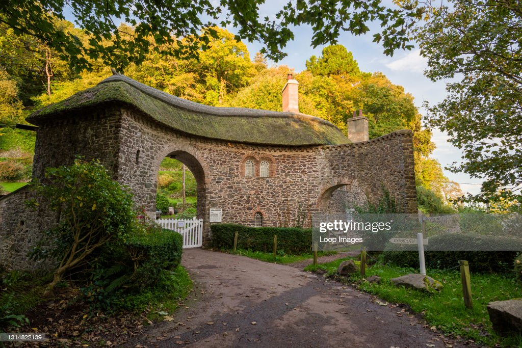Worthy Toll House at the entrance to Worthy Toll Road near Porlock in Exmoor National Park : News Photo