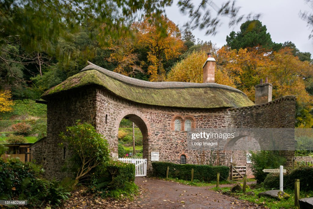 Worthy Toll House at the entrance to Worthy Toll Road near Porlock in the Exmoor National Park : News Photo