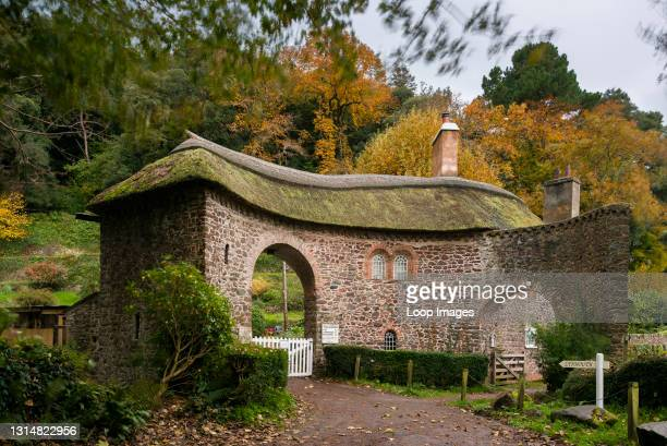 Worthy Toll House at the entrance to Worthy Toll Road near Porlock in the Exmoor National Park.