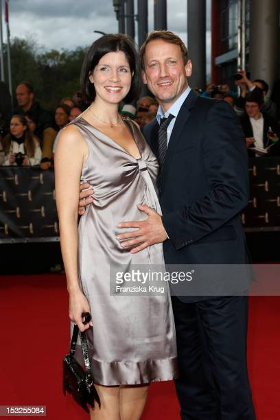 Wotan Wilke Möhring and Anna Theis attend the German TV Awards 2012 at Coloneum on October 2, 2012 in Cologne, Germany.
