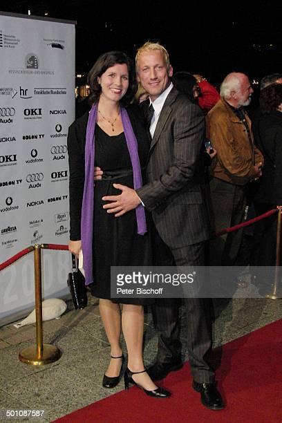 """Wotan Wilke Möhring, Freundin Anna Theis , Verleihung """"Hessischer Film- und Kinopreis 2008"""", """"Alte Oper"""", Frankfurt, Hessen, Deutschland, Europa,..."""