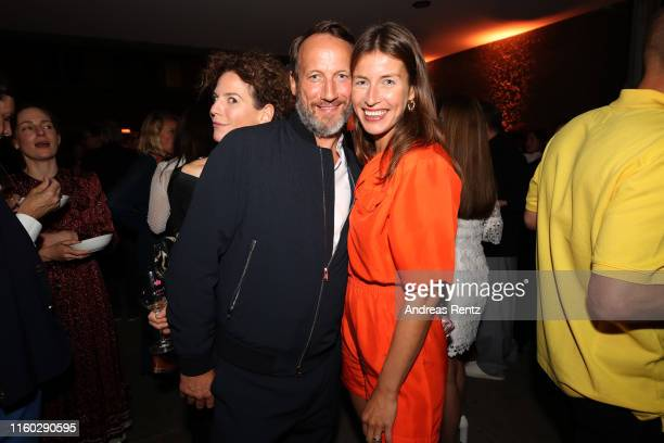 Wotan Wilke Moehring and Cosima Lohse at the Vogue party on July 05, 2019 in Berlin, Germany.