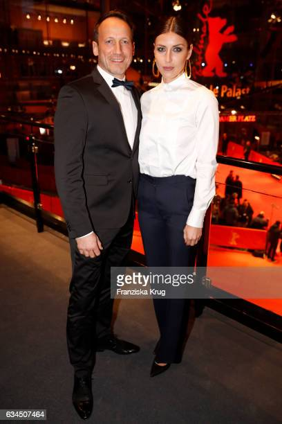Wotan Wilke Moehring and Cosima Lohse attend the 'Django' premiere during the 67th Berlinale International Film Festival Berlin at Berlinale Palace...