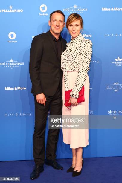 Wotan Wilke Moehring and Franziska Weisz attend the Blue Hour Reception hosted by ARD during the 67th Berlinale International Film Festival Berlin on...