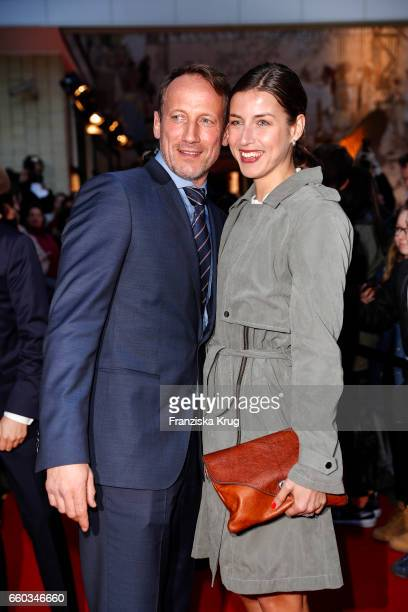 Wotan Wilke Moehring and his girlfriend Cosima Lohse attend the Jupiter Award at Cafe Moskau on March 29, 2017 in Berlin, Germany.