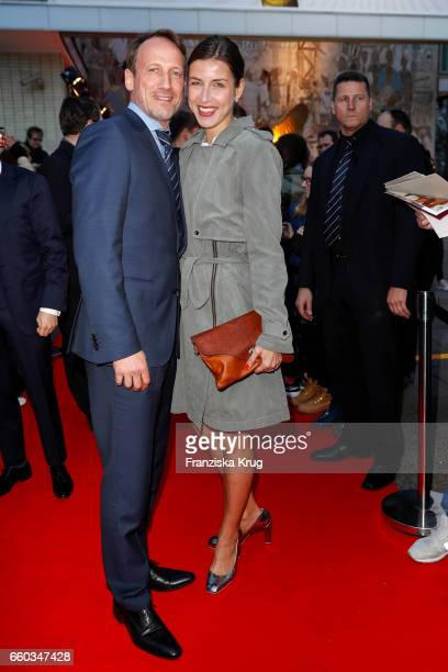 Wotan Wilke Moehring and his girlfriend Cosima Lohse attend the Jupiter Award at Cafe Moskau on March 29 2017 in Berlin Germany