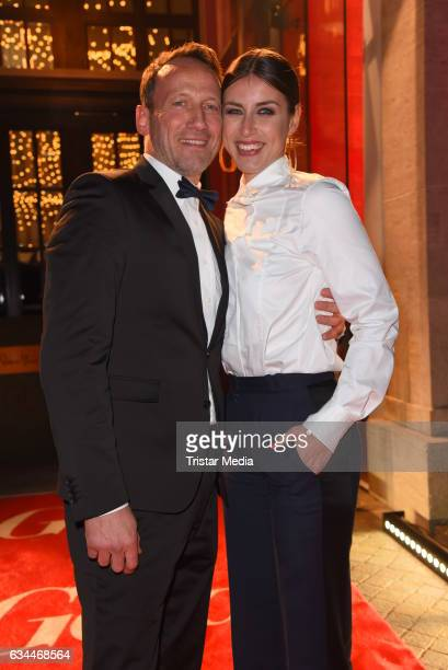 Wotan Wilke Moehring and his girlfriend Cosima Lohse attend the Opening Night By GALA & UFA on February 9, 2017 in Berlin, Germany.