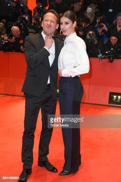 Wotan Wilke Moehring and his girlfriend Cosima Lohse attend the 'Django' Premiere during the 67th Berlinale International Film Festival on February...