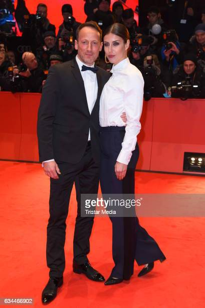 Wotan Wilke Moehring and his girlfriend Cosima Lohse attend the 'Django' Premiere - 67th Berlinale International Film Festival on February 9, 2017 in...