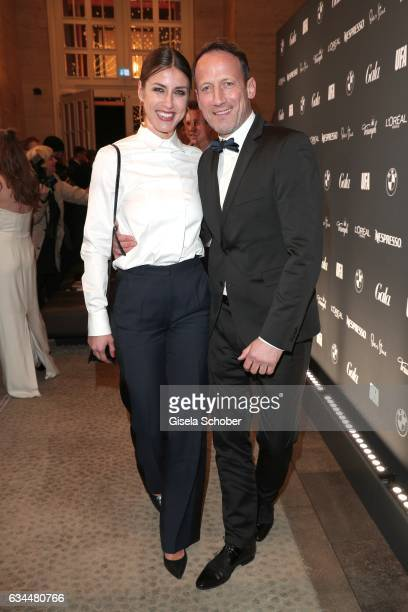 Wotan Wilke Moehring and his girlfriend Cosima Lohse during the Berlin Opening Night by GALA and UFA Fiction at hotel 'The Stue' on February 9, 2017...