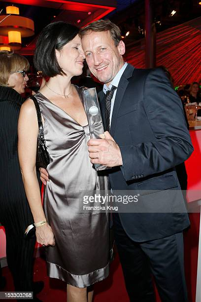 Wotan Wilke Moehring and his wife Anna Theis attends the German TV Award 2012 at Coloneum on October 2, 2012 in Cologne, Germany.
