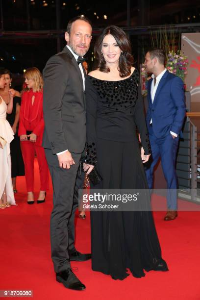 Wotan Wilke Moehring and Iris Berben attend the Opening Ceremony 'Isle of Dogs' premiere during the 68th Berlinale International Film Festival Berlin...