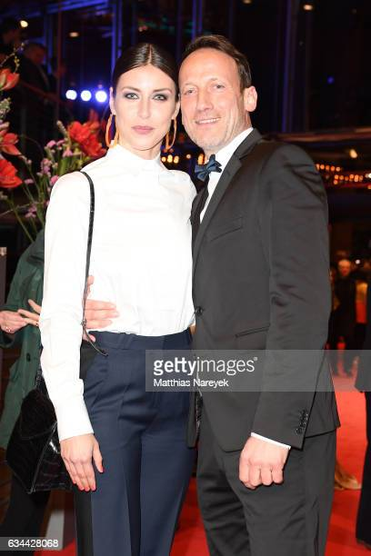 Wotan Wilke Moehring and partner Cosima Lohse attend the 'Django' premiere during the 67th Berlinale International Film Festival Berlin at Berlinale...