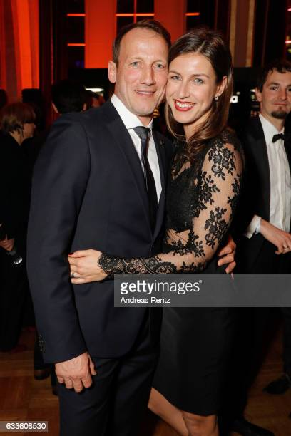 Wotan Wilke Moehring and partner Cosima Lohse attend the German Television Award at Rheinterrasse on February 2, 2017 in Duesseldorf, Germany.