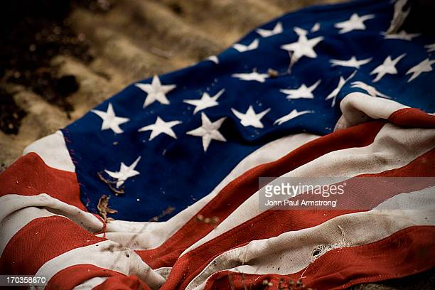 I would like to salute the ashes of American flags