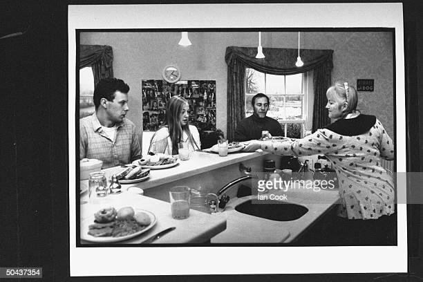Wouldbe screenwriter Douglas Gresham son of Amer poet Joy Gresham executor of his stepdad CS Lewis's estate sitting w son James daughter Lucinda at...